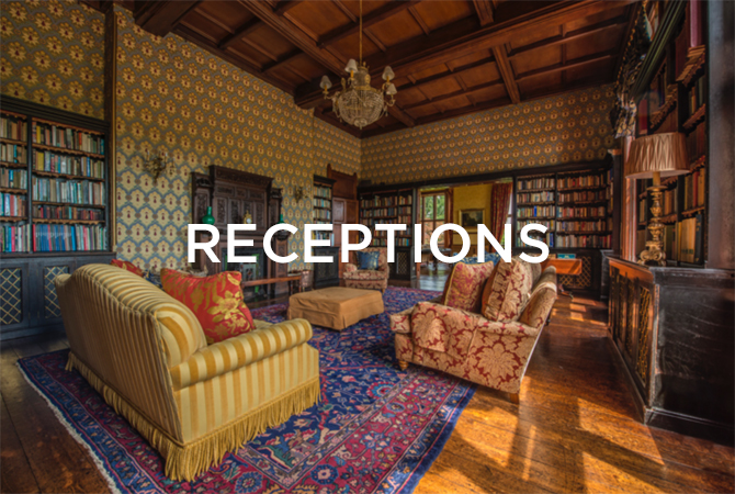 grand room with sofas and receptions text