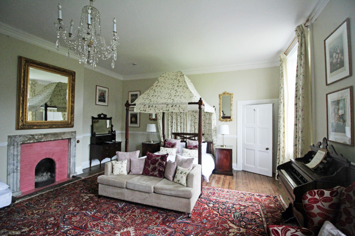 one of the many and uniquer bedrooms at Huntsham