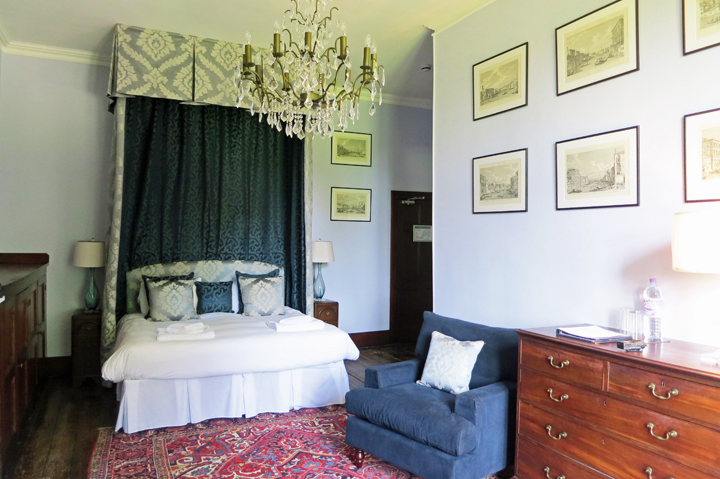 a bedroom in the Huntsham House
