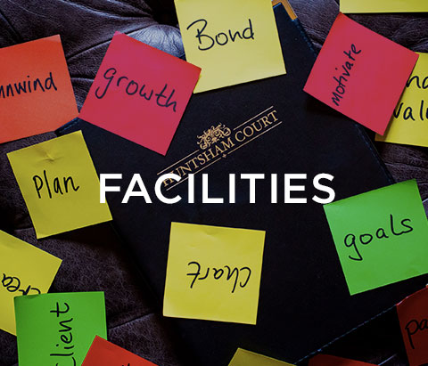colourful post it notes with text saying facilities