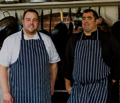 two Huntsham Court chefs posing for the camera